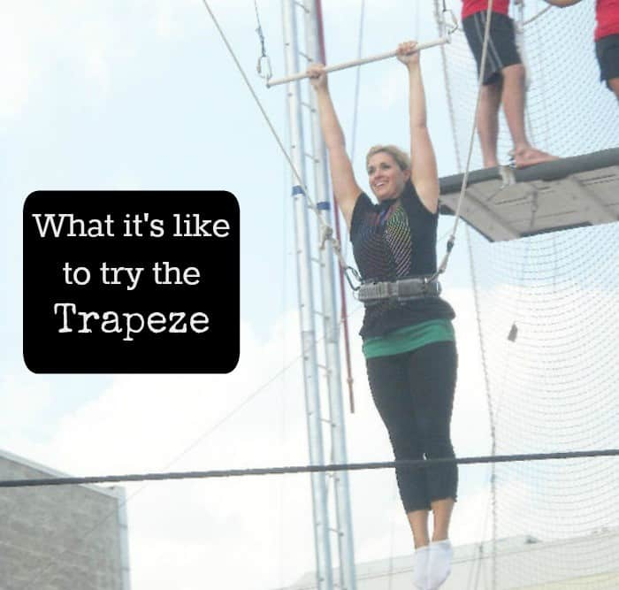 What it's like to try the trapeze
