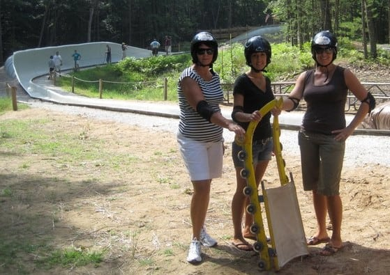 Only wheeled luge track in North America
