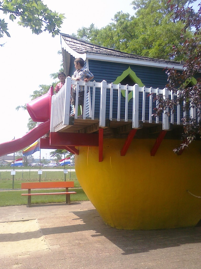 big shoe slide Nelis' Dutch Village