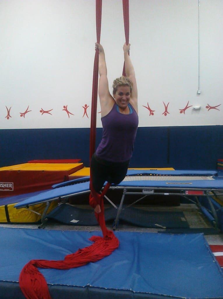 Taking an Aerial Silks Class