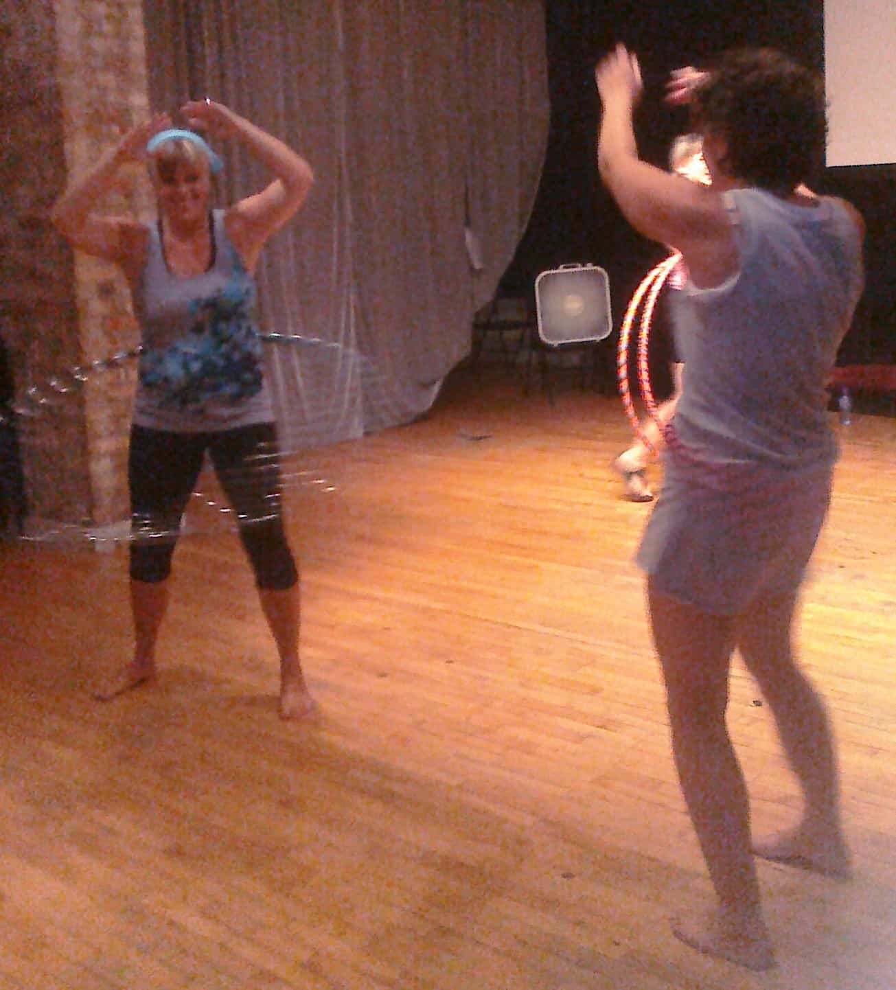 Hula Hoop Class at Audacious Hoops Grand Rapids Michigan