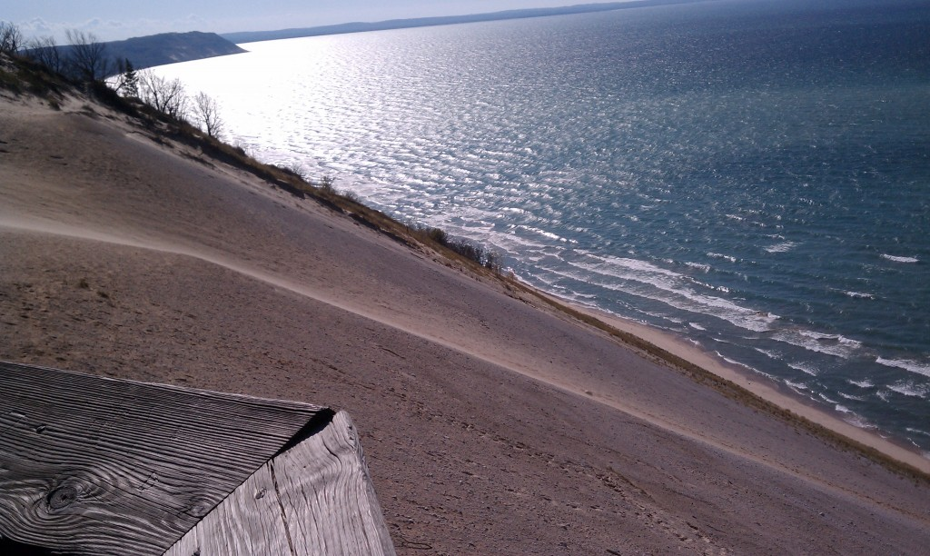 view from deck Sleeping Bear Dunes National Park