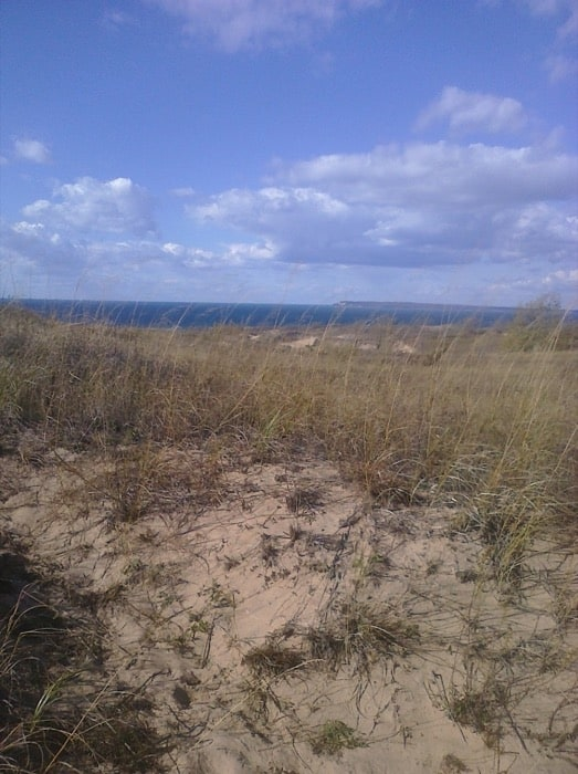 44b2a735708 We could see another big dune that lots of people were running down. view  to 2nd tier Sleeping Bear ...