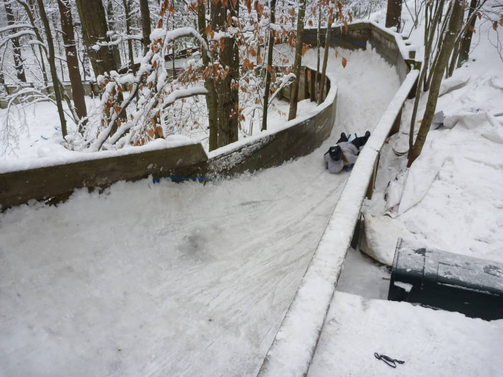luge track at Muskegon Luge Adventure Sports
