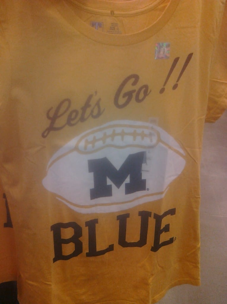 University of Michigan T-Shirt at the Gap Clearance Center in Hebron, KY