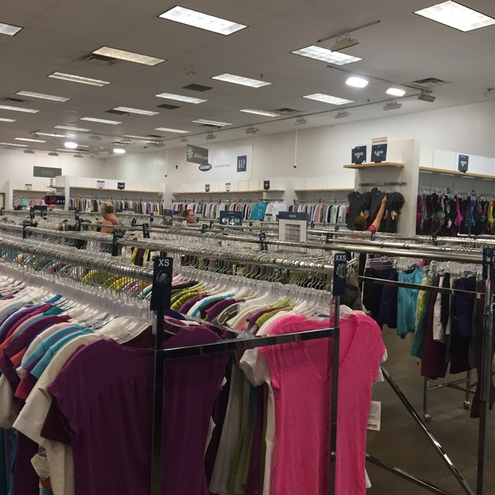 Inside the Gap Clearance Center in Hebron, KY