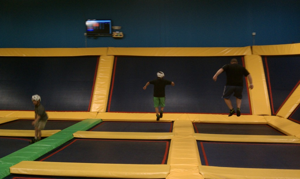 Bouncing Off the Walls at Lazer Kraze