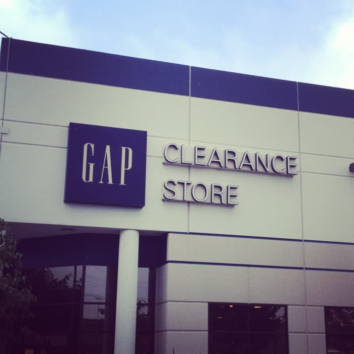 Adventures in Extreme Discounts at the Gap Clearance Store