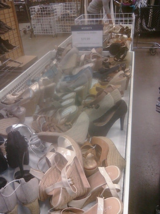Shoes at the Gap Clearance Center in Hebron, KY