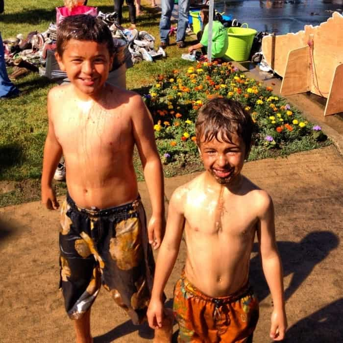 Boys at Mud Run
