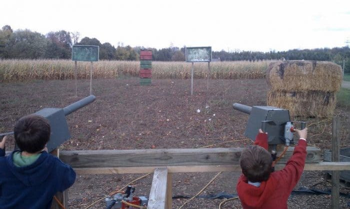 shoot apples at a target