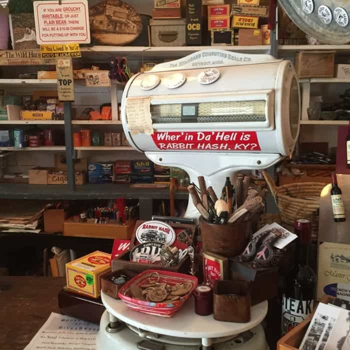 Scale inside Rabbit Hash General Store