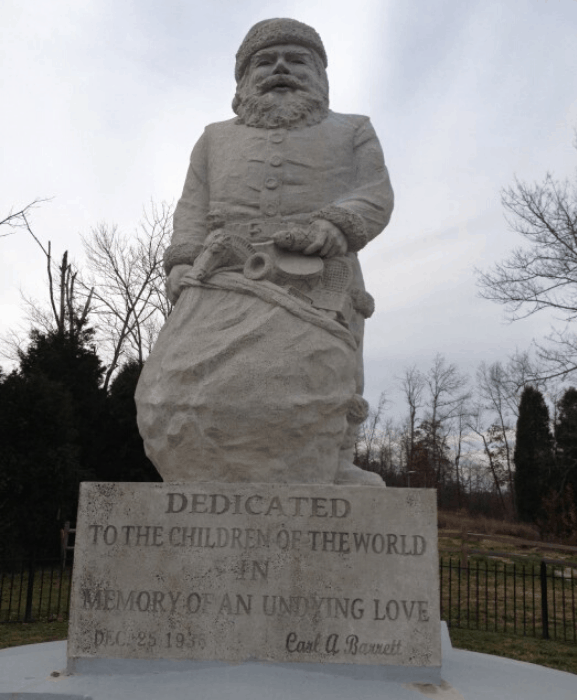 Historic Santa Claus Statue in Santa Claus Indiana