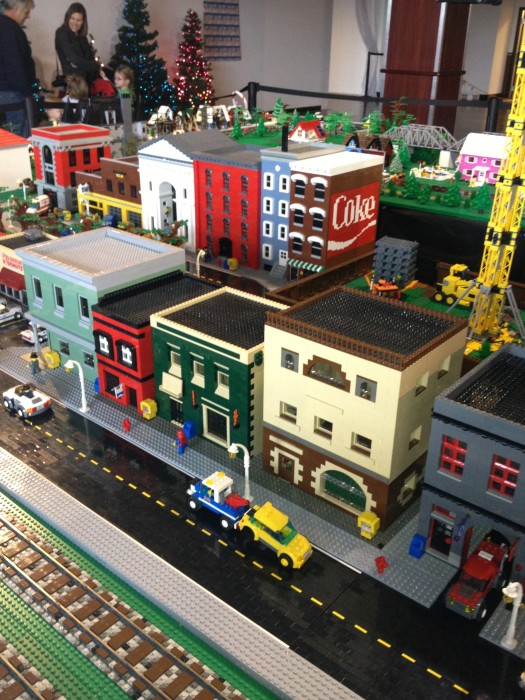 LEGO train display