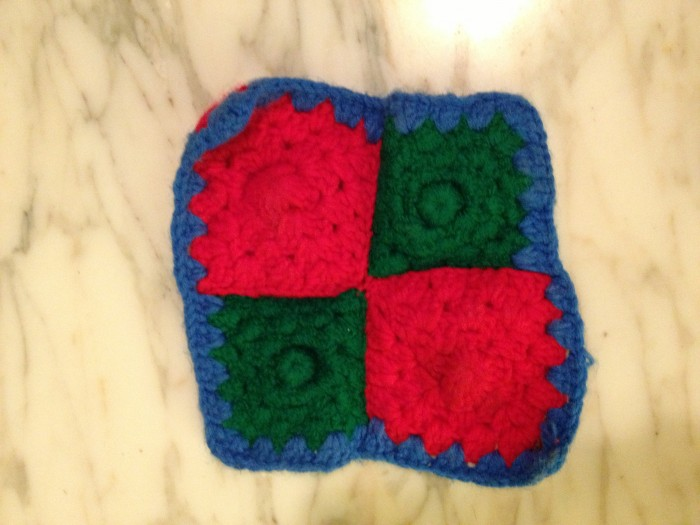 potholder from a homeless man