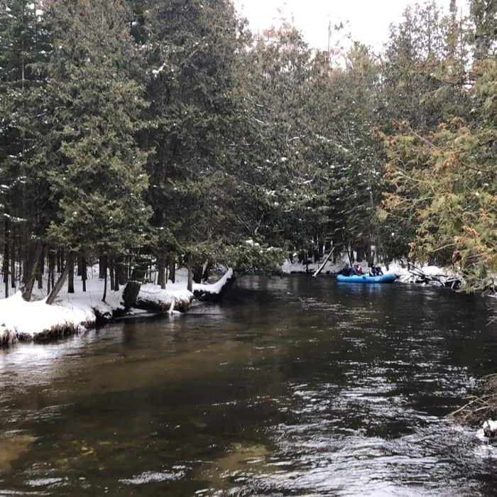 Guided Winter Rafting Trip in Northern Michigan