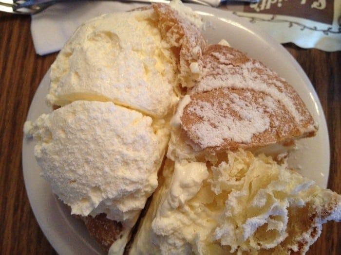 creme puff at Schmidt's Sausage Haus in Columbus