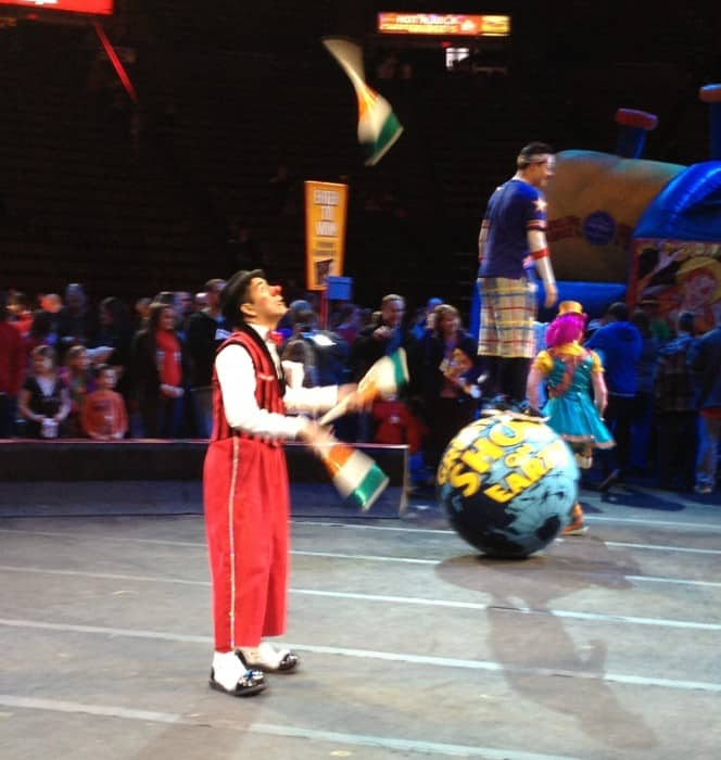 Clowning around at the Ringling Bros and Barnum & Bailey Circus