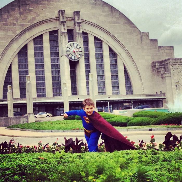 Superman themed photo shoot