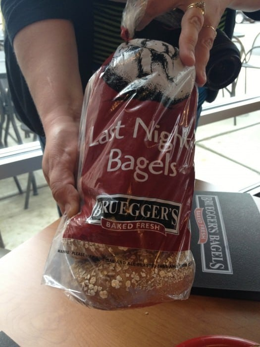 Last Night's Bagels Bruegger's bagels 2