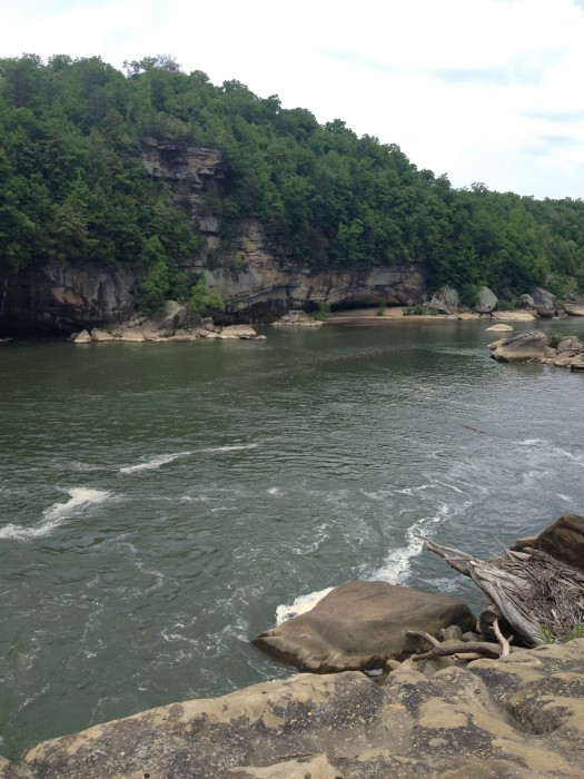 view before upper falls at Cumberland