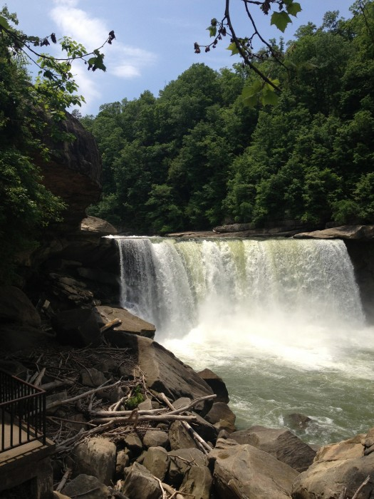 Cumberland Falls in Corbin, Kentucky