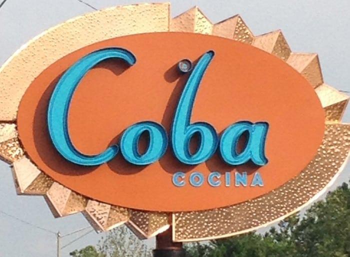 Coba Cocina sign