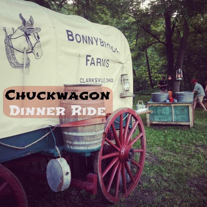 Chuck wagon dinner at Bonnybrook Farms