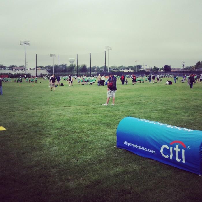 Chicago Bears Matt Forte football ProCamp for kids
