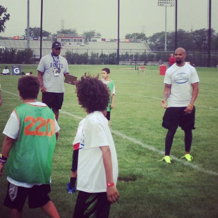 Chicago Bears Matt Forte football ProCamp for kids