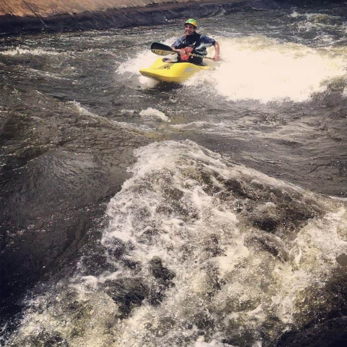 Whitewater rafting downtown South Bend Indiana East Race Waterway