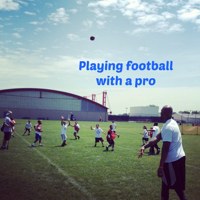 Playing Football with a Pro ~ Experiencing Pro Camps