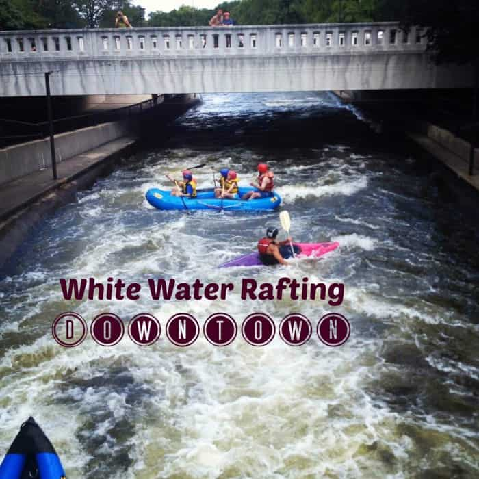 Whitewater Rafting Downtown in South Bend, Indiana