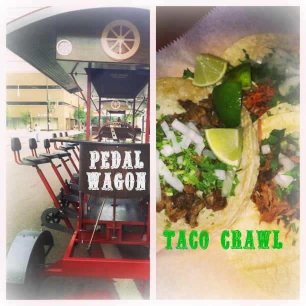 Dishcrawl Pedal Wagon Taco Tour