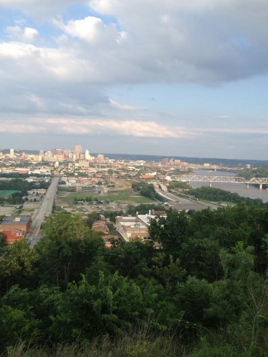view of Cincinnati from the Incline Public House Cincinnati Ohio
