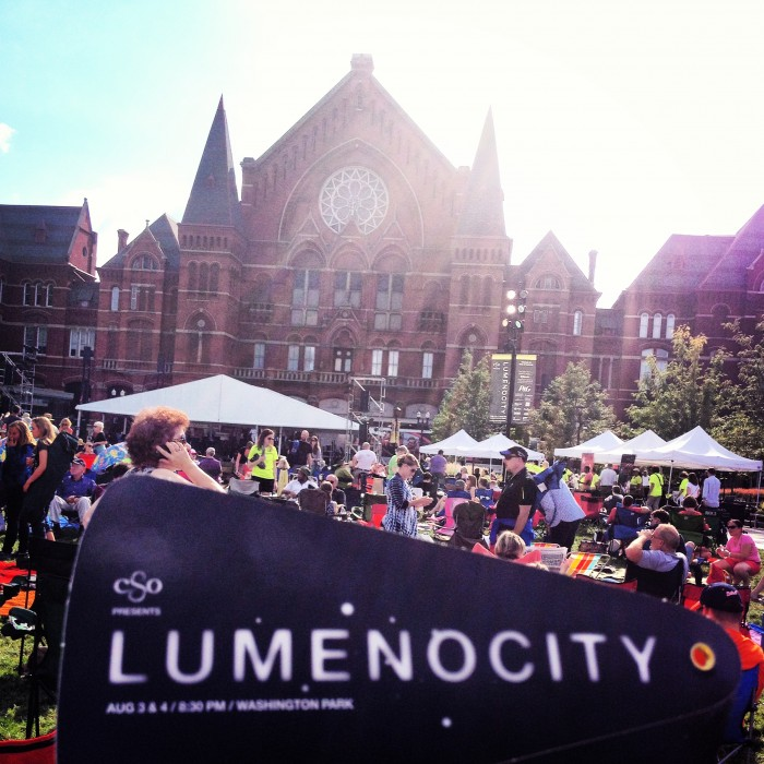 LumenoCity Washington Park Cincinnati Symphony Over the Rhine