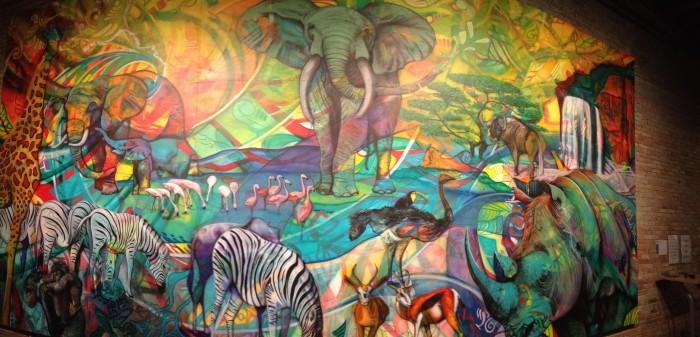 Oasis Mural - the harris building Art Prize in Grand Rapids, Michigan