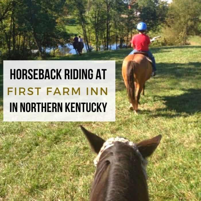 Horseback riding at First Farm Inn in Northern Kentucky