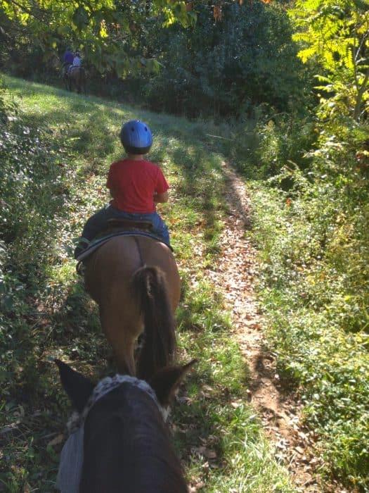 Horseback riding at First Farm Inn in Petersburg, KY