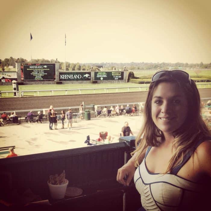 Adventure Mom at Keeneland Horse Race Track Lexington, Kentucky