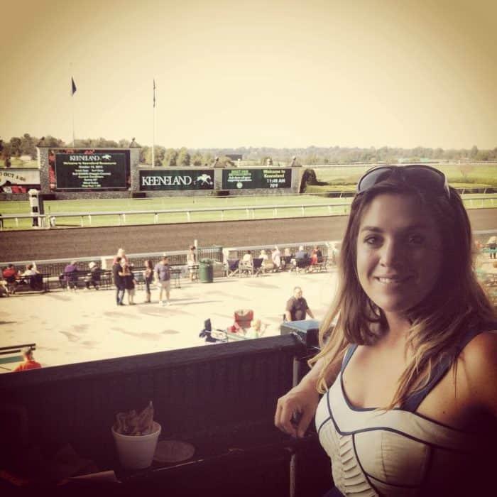 Adventure Mom at Keeneland Horse Race Track Lexington, Kentucky