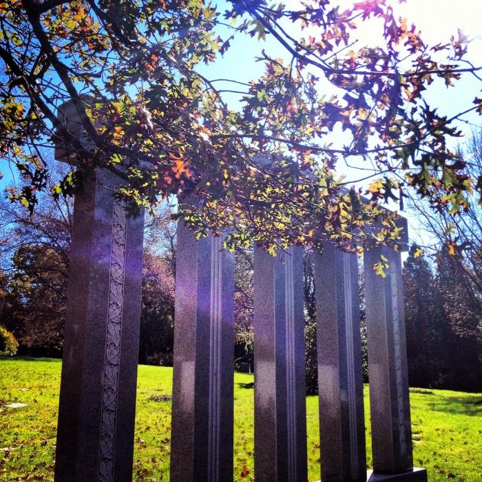monument at Spring Grove Cemetery and Arboretum Cincinnati, Ohio