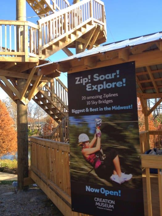 Screaming Raptor Zipline Canopy Tour Creation Museum Petersburg Kentucky