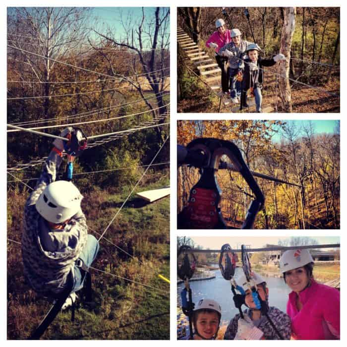 ziplining at the Creation Museum