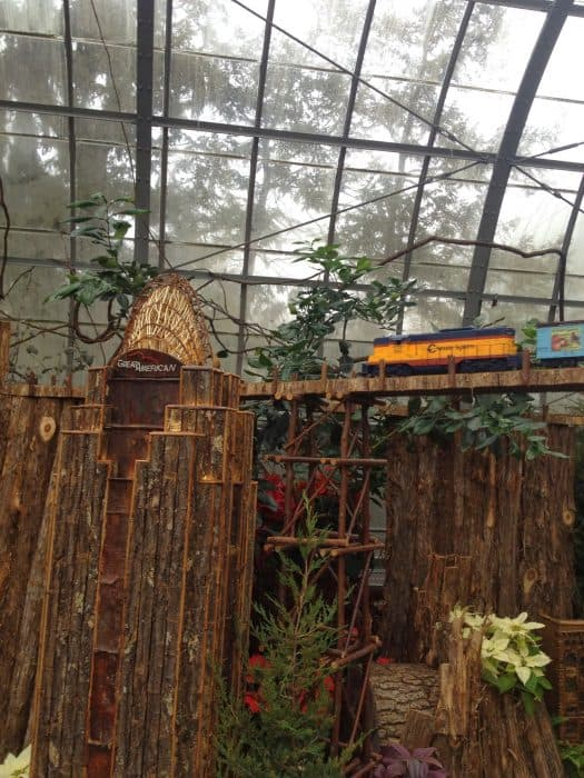 Holiday Train Display Krohn Conservatory