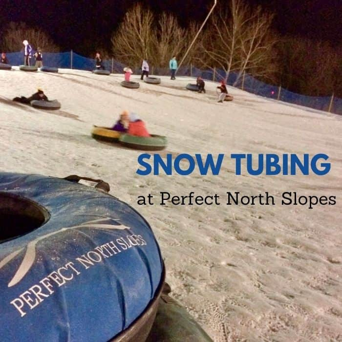 snow tubing at Perfect North Slopes in Indiana