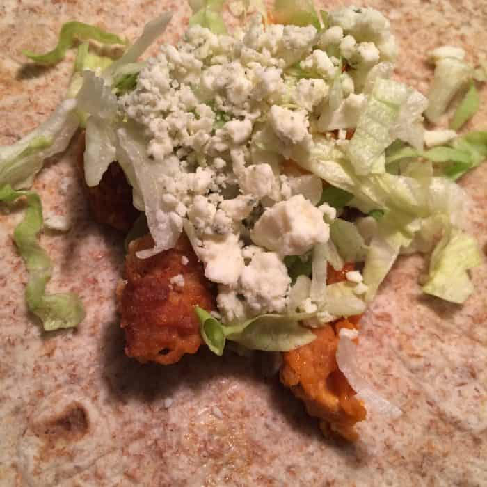 Buffalo Chicken Wrap Recipe using Chick Fil A Chick n Tenders