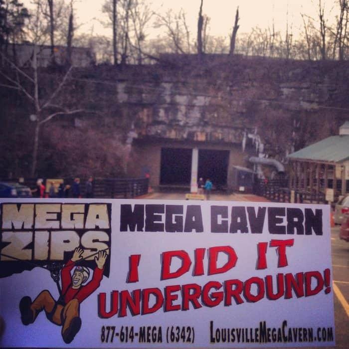 Mega Cavern Mega Zips in Louisville, Kentucky