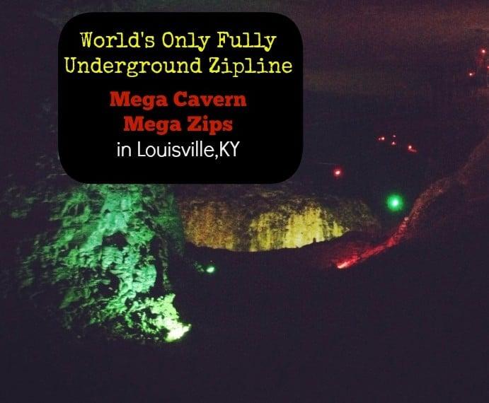 World's Only Fully Underground Zipline at Mega Cavern in Louisville