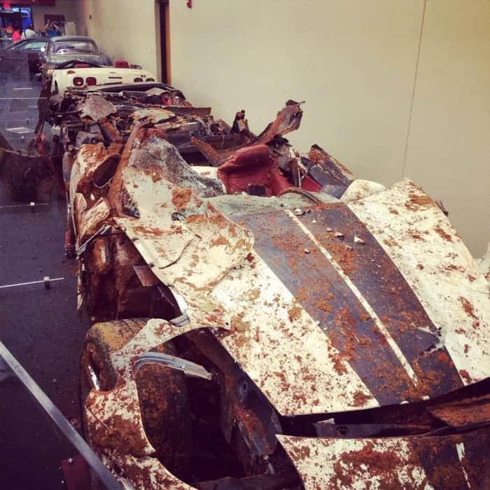 crushed corvette National Corvette Museum Bowling Green, Kentucky